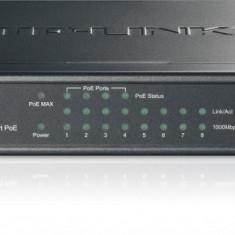 PoE (Power Over Ethernet) Switch 8 Porturi 10/100/1000 M (4 porturi PoE). Gigabit, carcasa metal - Placa de retea Tp-link