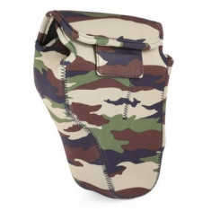 Husa neopren Caden Camouflage II marime S pentru camere foto DSLR