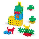 Jucarie Set constructie vafe cu animale domestice 31 pcs