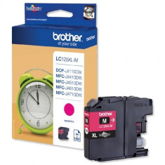 Cartus cerneala Original Brother Magenta LC125XLM compatibil MFC-J4410DW/MFC-J4510DW, 1200 pag.
