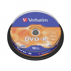 DVD-R Verbatim SL 16X 4.7GB 10PK SPINDLE MATT SILVER