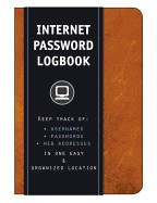 Internet Password Logbook (Cognac Leatherette): Keep Track Of: Usernames, Passwords, Web Addresses in One Easy & Organized Location foto mare