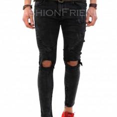 Blugi fashion - blugi barbati - blugi conici - COLECTIE NOUA - 7957H1, Marime: 34, 36, Culoare: Din imagine