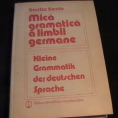MICA GRAMATICA A LIMBII GERMANE-EMILIA SAVIN-440 PG A 4- - Curs Limba Germana