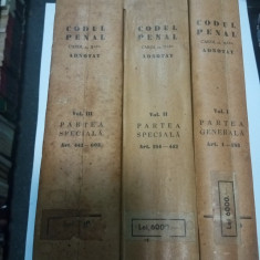 CODUL PENAL CAROL AL II LEA - ADNOTAT - 3 VOLUME - 1937 - Carte Codul penal adnotat