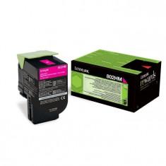 Toner Original pentru Lexmark Magenta 802HM, compatibil CX310/410/510, 3000pag