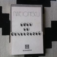 Curs De Metafizica Nae Ionescu carte editura humanitas 1991 - Filosofie