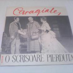 DUBLU DISC VINIL 2 LP O SCRISOARE PIERDUTA-CARAGIALE DISCURI STARE EXCELENTA NOI - Muzica pentru copii