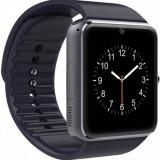 "Smartwatch Cronos GT08, Capacitive touchscreen 1.54"", Bluetooth, Bratara silicon, Functie telefon (Negru)"