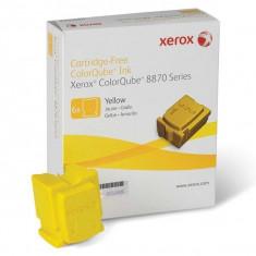 Cartus cerneala Original Xerox Yellow, compatibil ColorQube 8870, 6 sticks, 17300pag