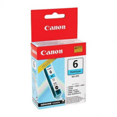 Cartus cerneala Original Canon BCI-6PC Photo Cyan, compatibil S800