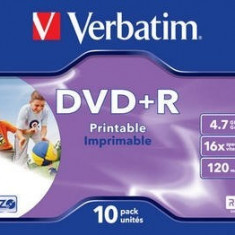 DVD+R Verbatim SL 16X 4.7GB JC WIDE INKJET PRINTABLE ID BRANDED