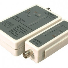 Tester cablu RJ45 / BNC Logilink