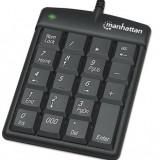 Numeric KeyPAD 19 taste, USB, Manhattan, Black, Blister 176354