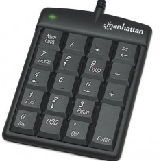 Numeric KeyPAD 19 taste, USB, Manhattan, Black, Blister