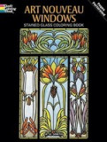 Art Nouveau Windows Stained Glass Coloring Book