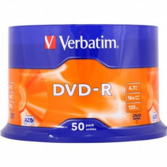 DVD-R Verbatim SL 16X 4.7GB 50PK SPINDLE MATT SILVER
