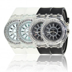 Geneva led watch (culoare cadran: alb) - Ceas dama Geneva, Fashion, Quartz, Silicon, Analog