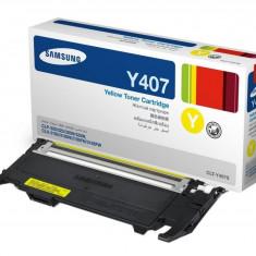 Toner Original pentru Samsung Yellow, compatibil CLP-320/325/CLX-3185, 1000pag