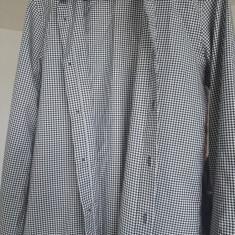 Camasa slim fit alb cu negru Zara, pentru barbati - Camasa barbati Zara, Marime: S