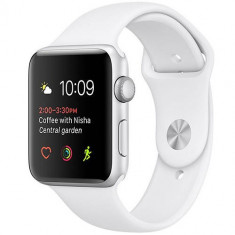 Smartwatch Apple Watch 1 Aluminiu Argintiu 42MM Si Curea Sport Alba, Apple Watch Series 1