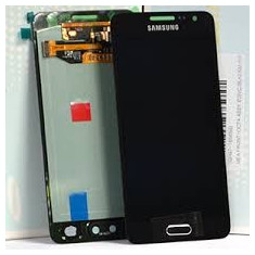 Display Samsung Galaxy A5 negru A500 2015 + folie sticla lcd cu touchscreen - Display LCD