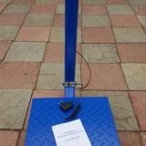 Cantar balanta electronic cu platforma 40x45 350kg tabla STRIATA, brat detasabil