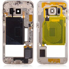 Carcasa mijloc Samsung Galaxy S6 edge G925 aurie Originala