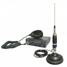 Kit Statie radio CB PNI ESCORT HP 8001 ASQ + Casti HS81 + Antena CB PNI S9 cu magnet