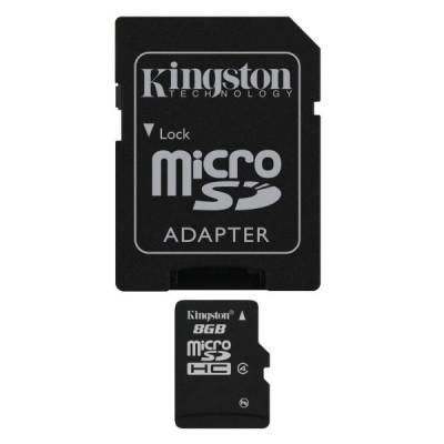 Card Memorie Kingston MicroSDHC 8GB Class4 foto