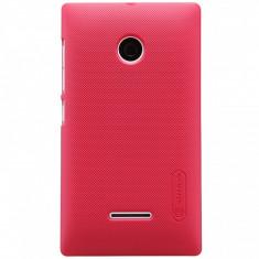 Husa plastic Microsoft Lumia 532 Nillkin rosie Blister Originala - Husa Telefon