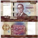 !!!  LIBERIA  -  20  DOLARI  2016  - P NEW - UNC