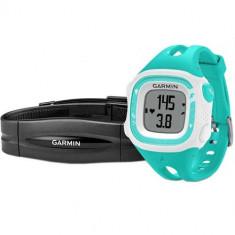 Smartwatch Garmin Forerunner 15 Bundle Cu Accesoriu HR S Alb Verde
