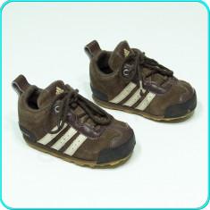 DE FIRMA → Adidasi foarte comozi, usori, piele, calitate ADIDAS → baieti | nr 21 - Adidasi copii, Culoare: Maro, Piele intoarsa