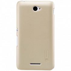 Husa plastic Sony Xperia E4 Nillkin aurie Blister Originala - Husa Tableta