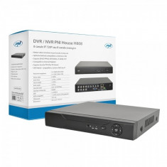 DVR / NVR PNI House H808 - 8 canale IP 720P Real Time sau 8 canale analogice - sistem NVR