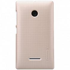 Husa plastic Microsoft Lumia 435 Nillkin aurie Blister Originala - Husa Telefon