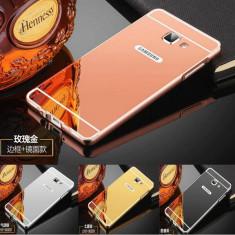 Husa / Bumper aluminiu + spate acril oglinda Samsung Galaxy J5 Prime / On5 2016 - Bumper Telefon