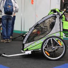 Remorca de bicicleta Qeridoo Sportrex2 verde, 2017 - Remorca bicicleta