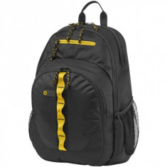 Rucsac notebook HP 15.6 inch Sport Black - Yellow - Geanta laptop HP, Poliester, Negru