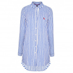 Camasa US Polo ASSN de dama, camasa lunga de calitate 100% bumbac - Camasa dama US Polo Assn, Marime: L, XL, XXL, Culoare: Albastru, Maneca lunga