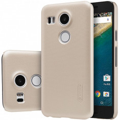 Husa plastic LG Nexus 5X Nillkin Frosted aurie Blister Originala - Husa Tableta