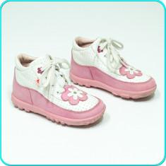Pantofi / ghete DIN PIELE, comozi, aerisiti, calitate ELEFANTEN _ fete | nr. 24 - Pantofi copii, Culoare: Din imagine, Piele naturala