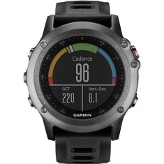 Smartwatch Garmin Fenix 3 Multisport GPS HR Bundle Curea Silicon Negru