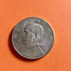CHINA MONEDA ONE DOLLAR 1934, Asia, Argint