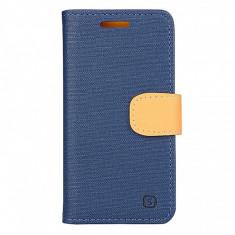 Husa textil Lenovo A2010 Book Denim Bleumarin - Husa Tableta