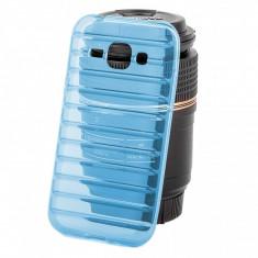 Husa silicon TPU Samsung Galaxy J1 Strips bleu - Husa Tableta