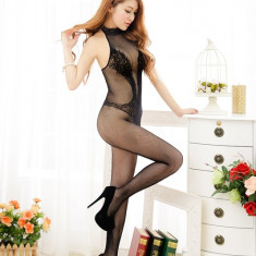 BS275-1 Lenjerie sexy tip bodystocking, cu model dantelat - Lenjerie sexy dama, Marime: S/M