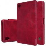 Husa piele Sony Xperia X Nillkin Qin Book Rosie Blister Originala
