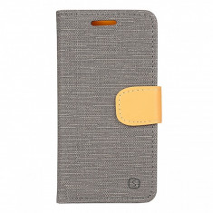Husa textil Lenovo A2010 Book Denim gri - Husa Tableta